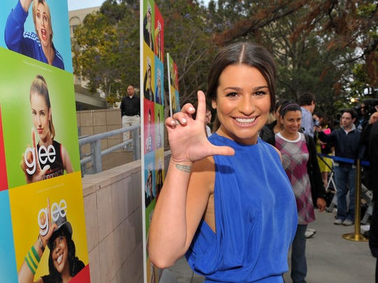 """Cast member Lea Michele at the """"Glee"""" premiere event screening at Santa Monica High School in Santa Monica, Calif. on Monday  May, 11, 2009."""