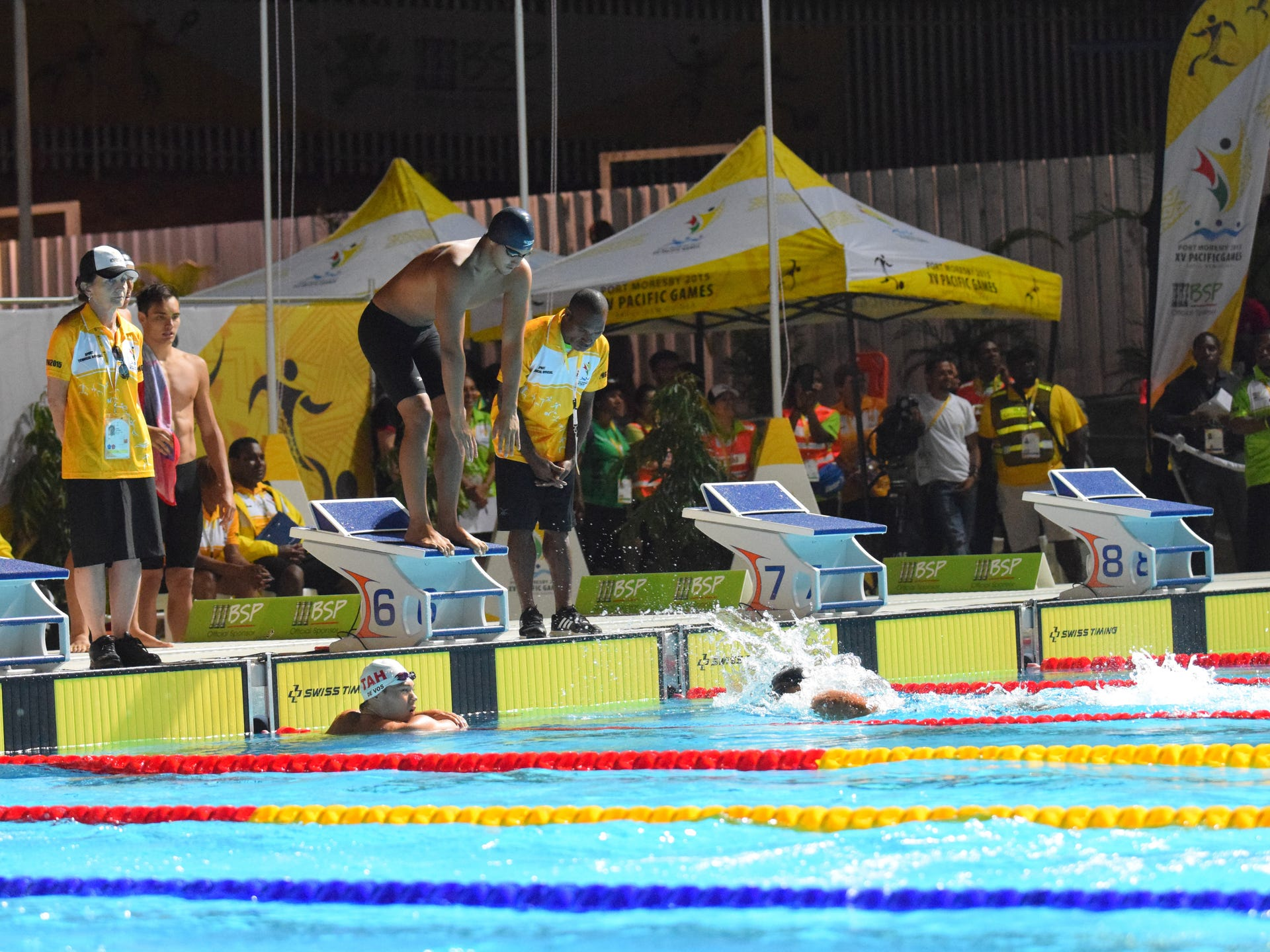 Pacific Games swimming July 7