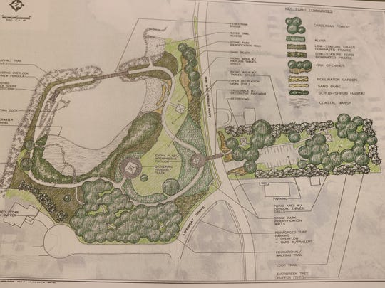 The preliminary master plan for Clemons Park calls