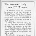 #MeToo: Fight against workplace sexual harassment began at Cornell in 1975