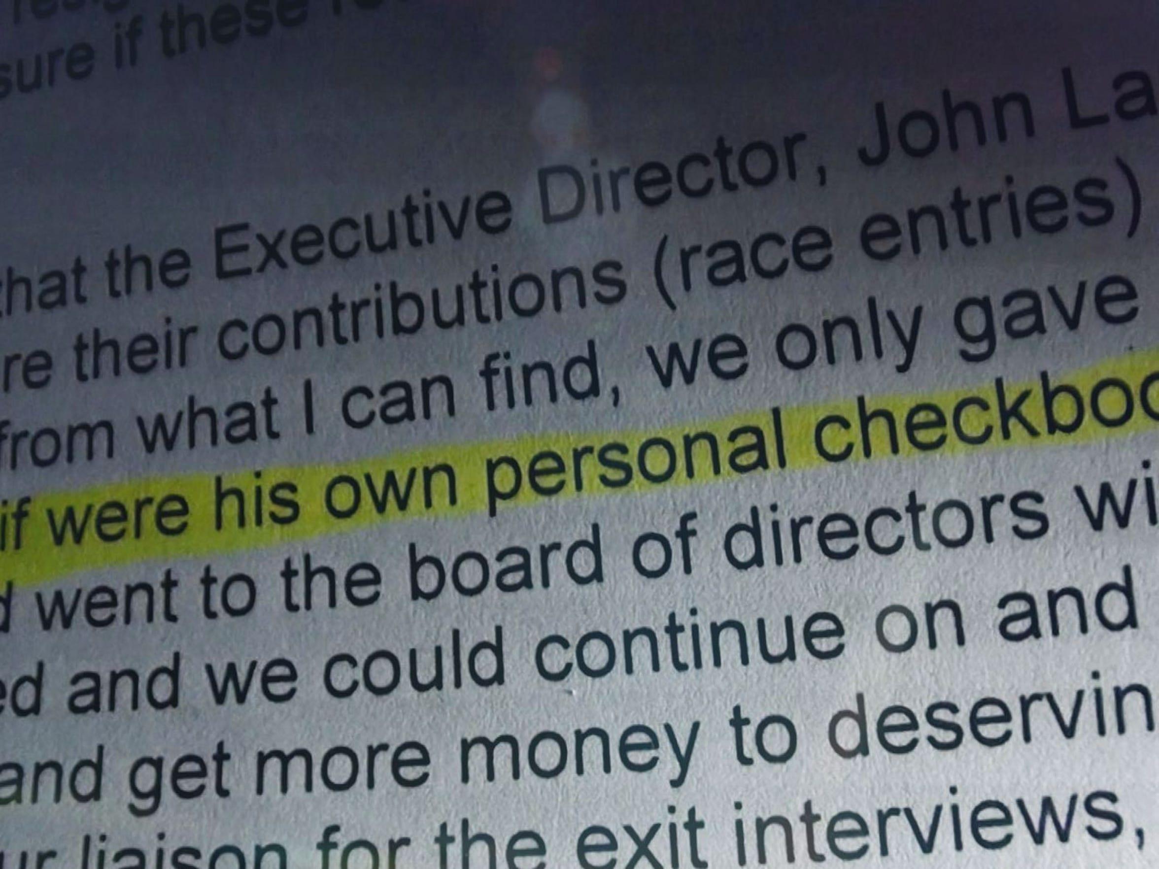 Attorney General receives complaint against John Larson.