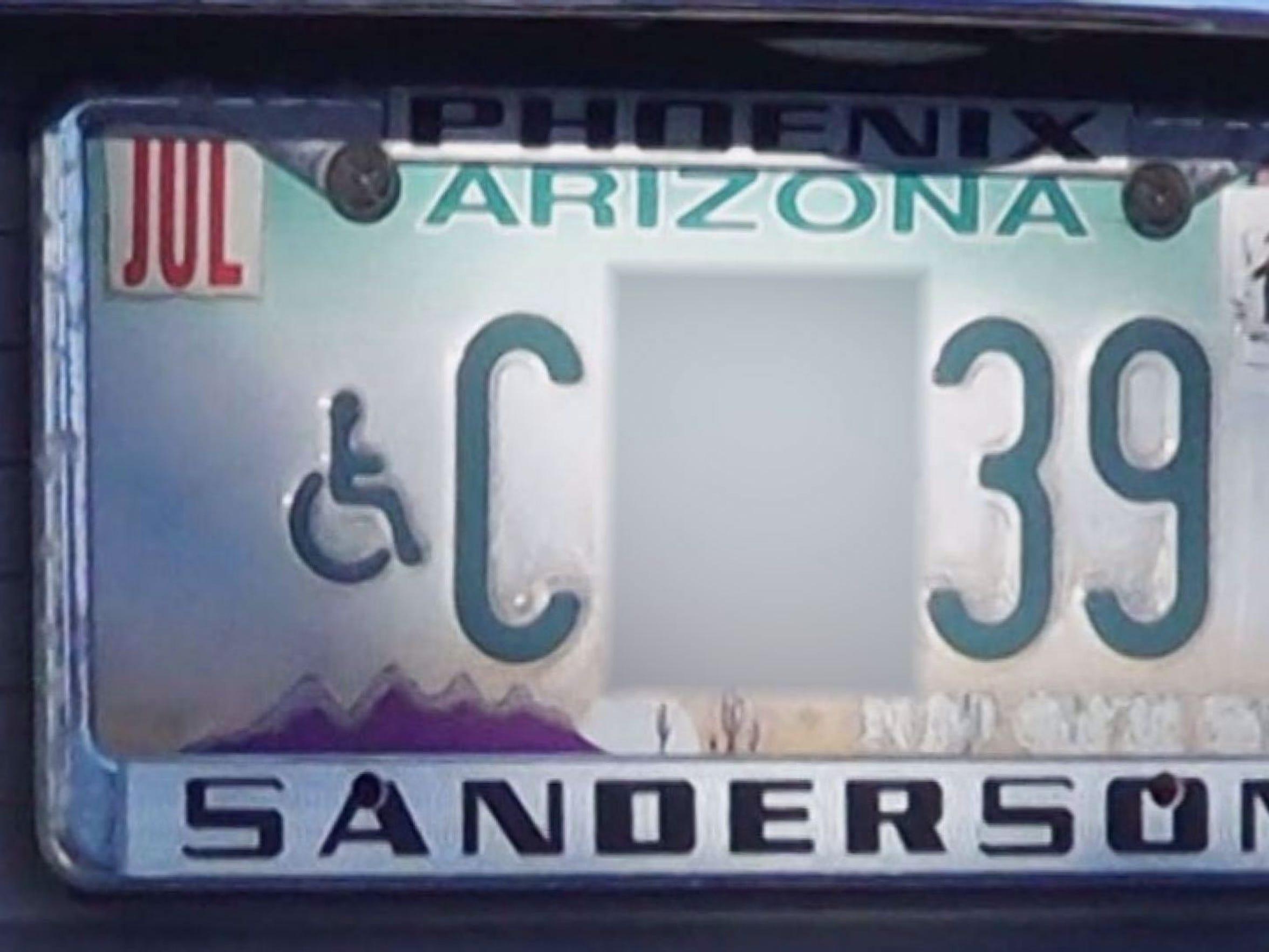 John Larson's license plate.