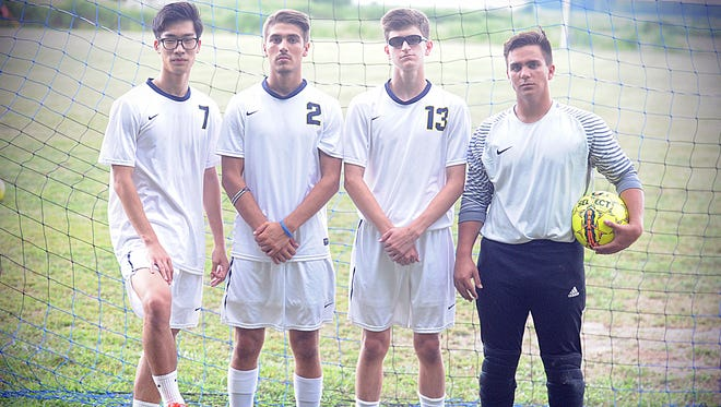 Dong Kim, Philip Malta, Jacob Courtney and Jacob Barfield hope to lead Holly Grove to an ESIAC title this season.