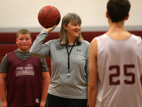 Roxanne Noeth, a former standout as a player at St. John Fisher College, is the new boys varsity basketball coach at her alma mater, Byron-Bergen.