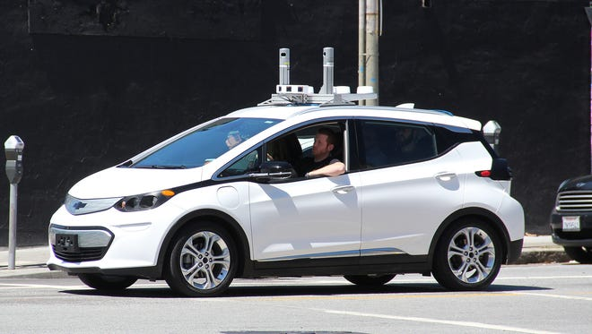 A Chevy Bolt EV was spotted in San Francisco with what appears to be an autonomous driving test device on the roof.