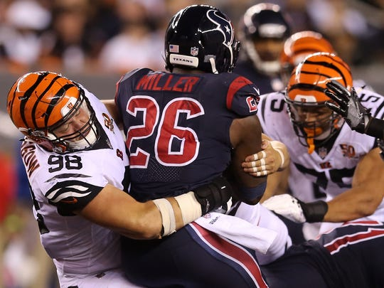 Cincinnati Bengals defensive tackle Ryan Glasgow (98)