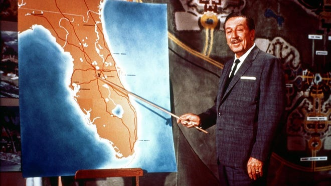 Walt Disney sticks it to Florida while unveiling his plans to build Walt Disney World near Orlando in the late '60s.