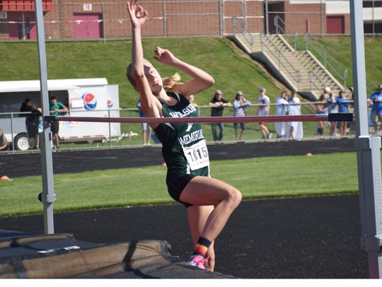 Wilson Memorial's Paige Miller competes in the Group