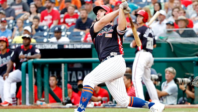 New York Mets prospect Peter Alonso hit one of the eight home runs in this year's All-Star Futures Game.