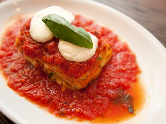Formaggi Lasagna at the Farmhouse Group's new Church Street offering, Pascolo Ristorante, in downtown Burlington.