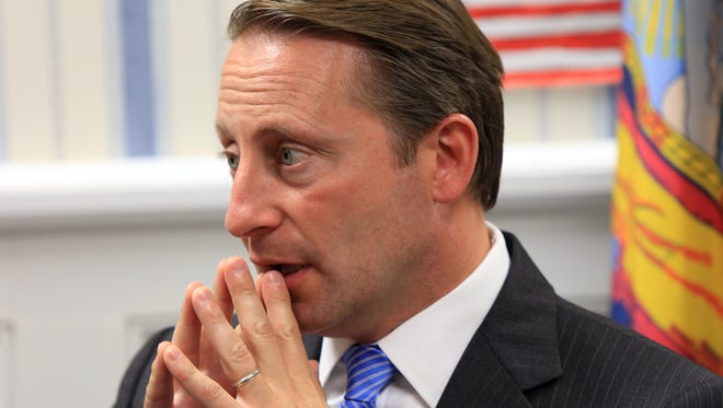 Westchester County Executive Rob Astorino worked as sports radio producer, served on his local town board and then hosted his own religion show on satellite radio. Now he's running for governor in New York. The 47-year-old is shown Oct. 3 at his campaign headquarters in White Plains.
