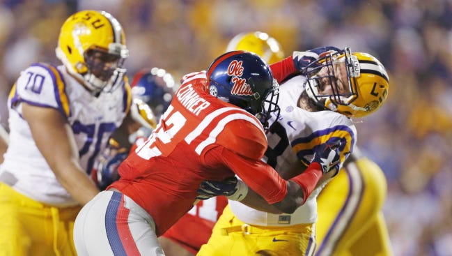 Hugh Freeze said this week will be a good test for Tony Conner, who suffered a torn meniscus last season.