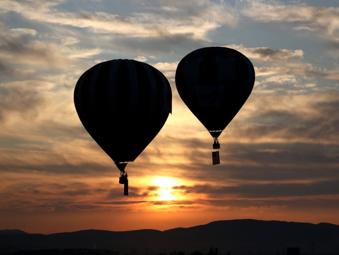 Balloons take flight during The Great Reno Balloon