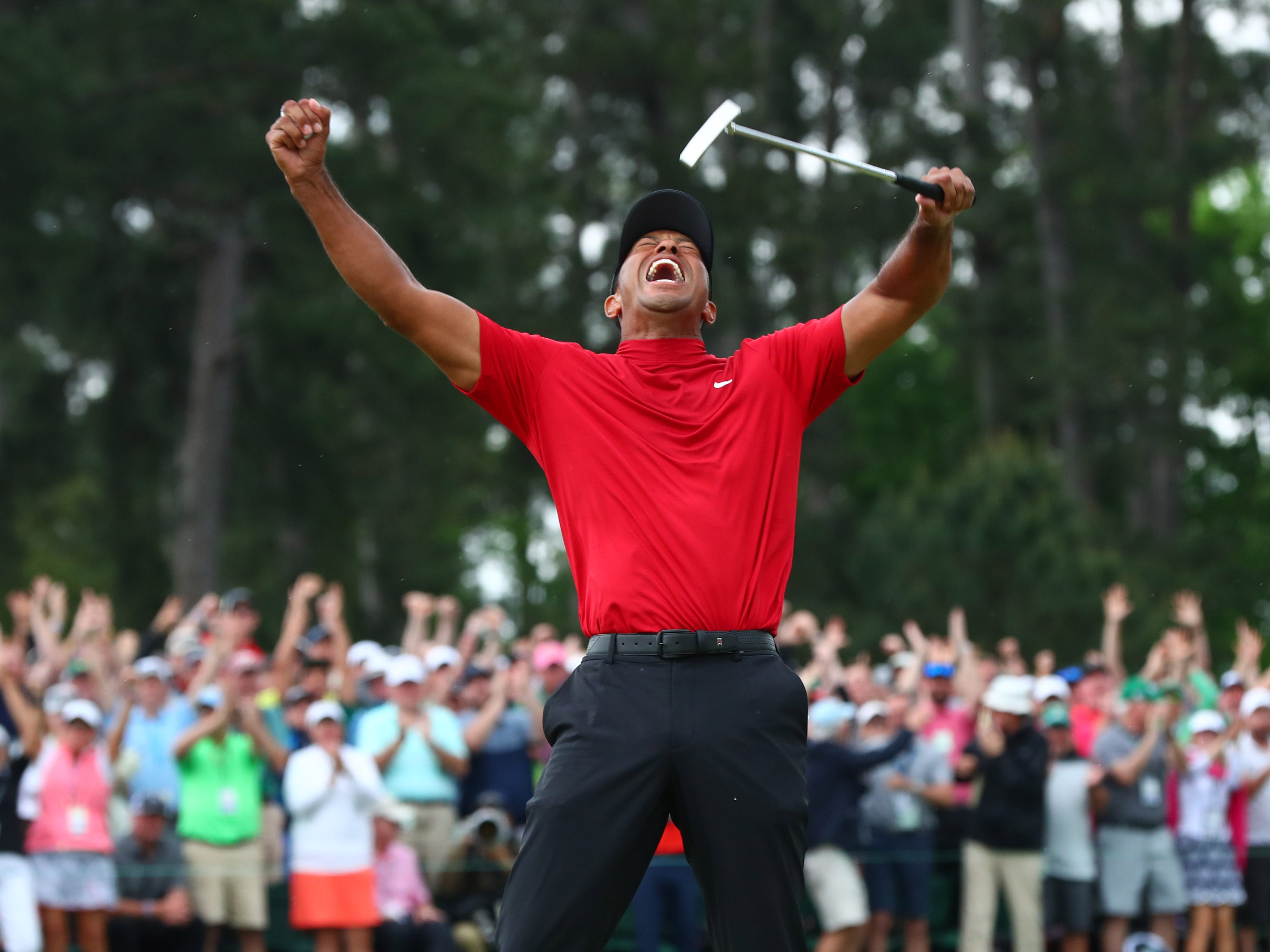 tiger woods wins masters  earns 15th major title and first