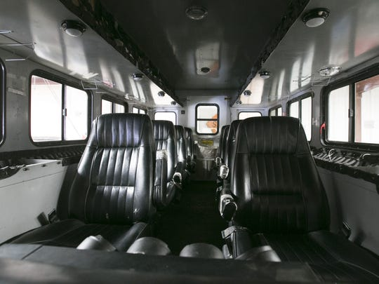 Here's the inside of one of two Granite Mountain Hotshots crew buggies.