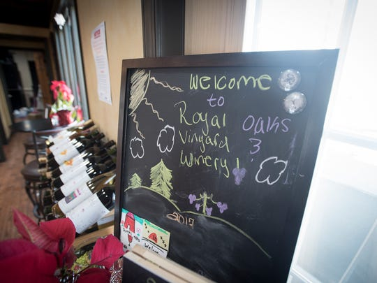 "There is no music on inside Royal Oaks Winery, a ""cease and desist"" order prevents the North Cornwall Township business from having music play inside the building."