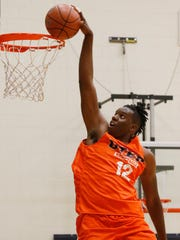 UTEP basketball introduced Tirus Smith, 6-9 forward from Richton, MS out of Petal High School. Smith is the third of seven new players joining the team that will be introduced to the El Paso community over the next couple of weeks.