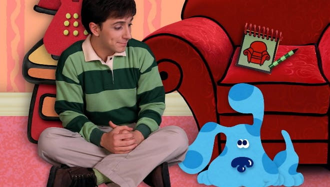 "Steve Burns on Nickelodeon's ""Blue's Clues."""