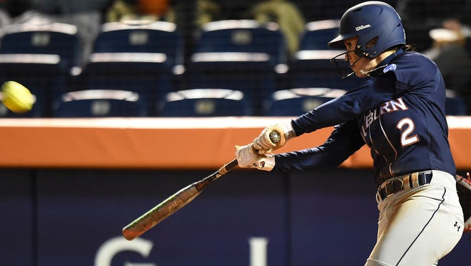 Haley Fagan is hitting .349 with 13 home runs and 55 RBI entering the NCAA Super Regional.
