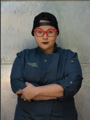 """Marissa Delgado competes in a chocolate-themed """"Chopped"""" episode."""