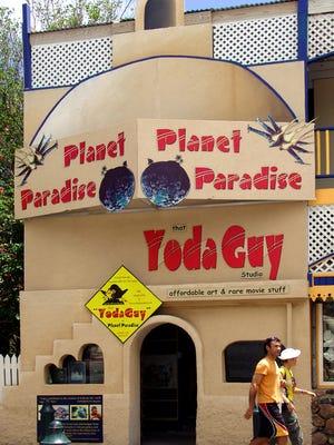 That Yoda Guy's movie exhibit is located on Philibsburg's main drag in St. Maarten.