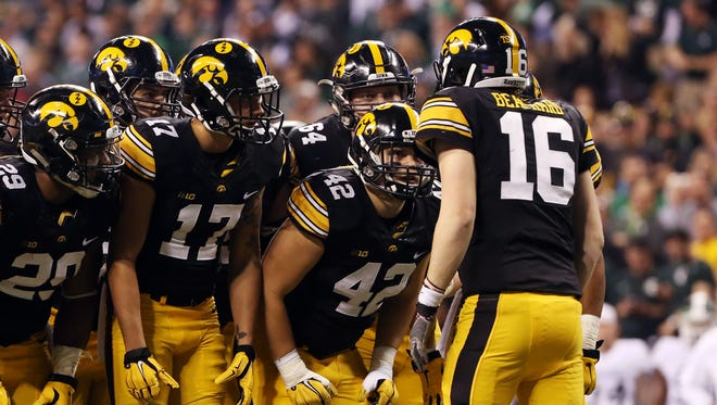 C.J. Beathard won his first 13 starts as the Hawkeyes' quarterback before losing 16-13 in the Big Ten championship game against Michigan State.