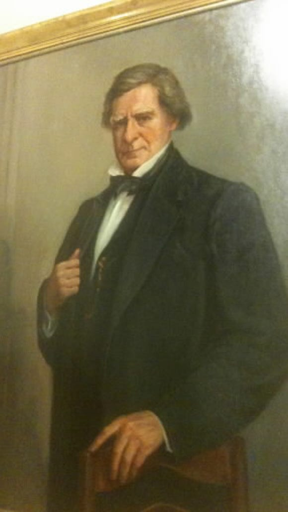 Jeremiah Sullivan Black's legal mind was well regarded in mid-1800s America. But his extreme partisanship was widely known as well. This portrait of Black hangs in the York County Administrative Center.