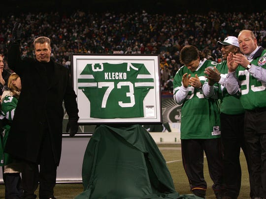 The Jets retired the number of defensive lineman Joe