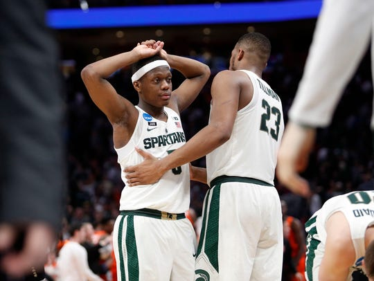 Mar 18, 2018; Detroit, MI, USA; Michigan State Spartans
