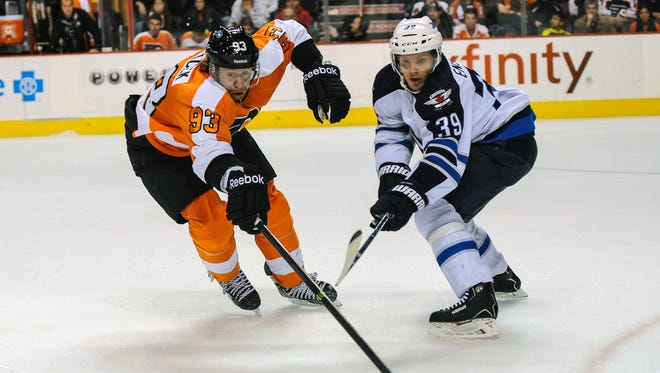 The Flyers beat the Winnipeg Jets 2-1 in their last visit to Philadelphia.