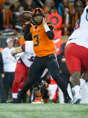 Oregon State quarterback Marcus McMaryion had a career-high five touchdown passes in Saturday's 42-17 win against Arizona at Reser Stadium.