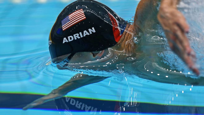 Nathan Adrian will compete in the 50 and 100-meter freestyles next week at the World Swimming Championships in Budapest, Hungary.