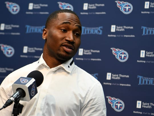 Titans newrunning back  Dion Lewis addresses the media