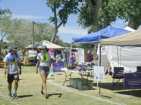 Walkers participate in the Fernley Relay for Life.