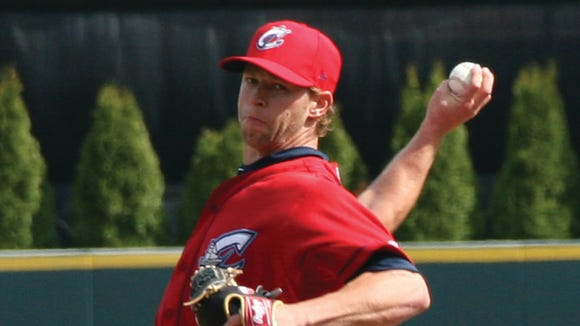 Austin Adams was with the Triple-A Columbus Clippers until his promotion Friday to the Cleveland Indians.