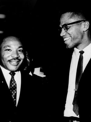 Martin Luther King Jr. and Malcolm X meet briefly in 1964. At the time, their visions were becoming more closely aligned.