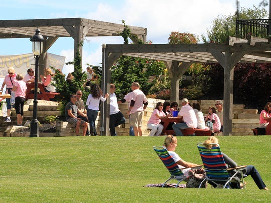 Visitors relax at Laurita Winery in the New Egypt section of Plumstead.