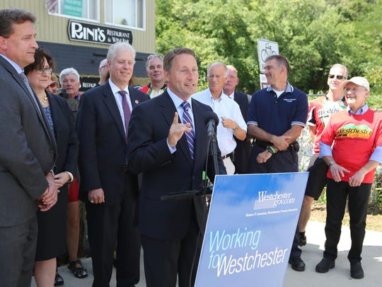County Executive Rob Astorino announces the beginning of the construction process of the extension of the county trailway.