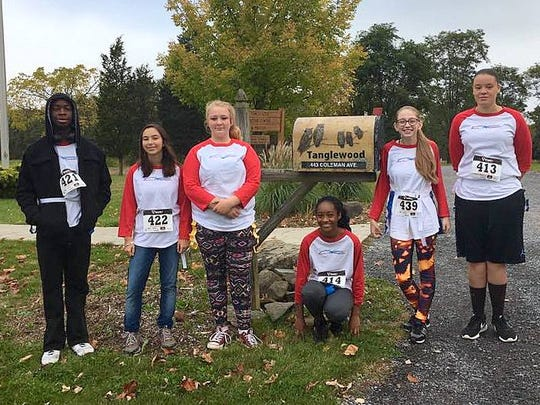 """Students from Reality Check took part in a recent """"Seen Enough Tobacco Day"""" at Tanglewood Nature Center in Elmira."""