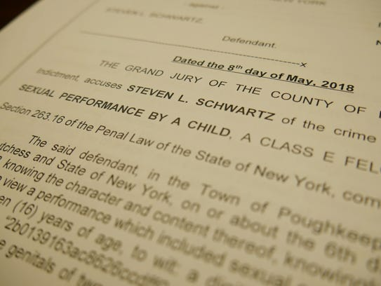 This photo depicts a copy of Steven Schwartz's indictment.