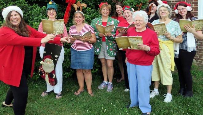 Choir members, from left to right, are Diane Battersby, Dotty Ostella, Beth Shorten, Marilyn O'Neill, Caroline Mescia, Carol Versprill, Barbara Levenson, Krista Shaw, Ann Brillhart and Nicole Shaw.