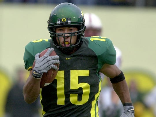 Oregon wide receiver Keenan Howry.