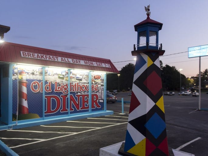 Old Lighthouse Diner at 2520 W State St. in Bristol, TN specializes in breakfast fare.