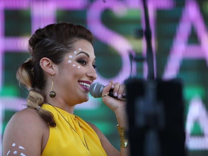 Clarissa Serna performs at Day 2 of Fiesta de la Flor on Saturday, May 7, 2016.