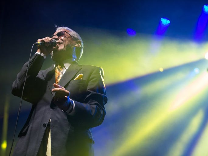 COURTNEY SACCO/CALLER-TIMES Ruben Ramos performs during the second day of the Fiesta de la Flor on Saturday, May 7, 2016.