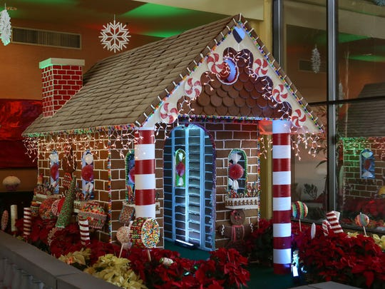 JW Candyland:  A Dessert Experience is a full size gingerbread house at the JW Marriott Desert Springs Resort in Palm Desert that is open to the public, December 9, 2016.