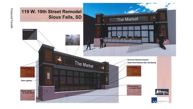 Design plans show a proposed facelift for the old Ming Wah space in downtown Sioux Falls