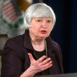 Federal Reserve Chair Janet Yellen says interest rates will rise only gradually.