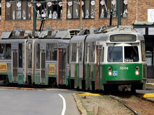 A Massachusetts Bay Transportation Authority Green