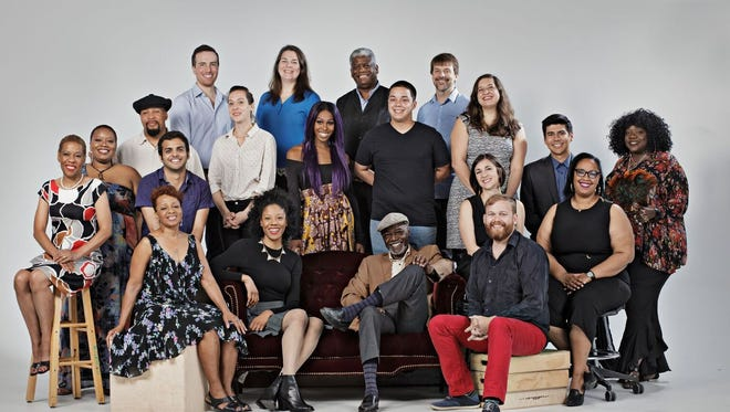 "A group shot of the 2018 Kresge Artist Fellows -- divided this year between the ""live arts"" and music and film."